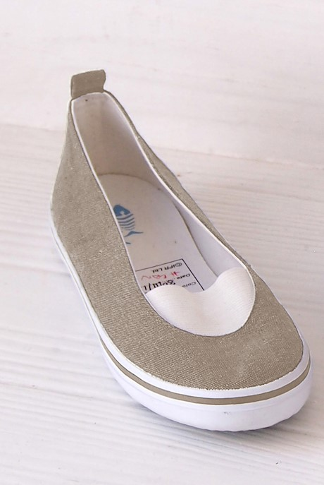 Erin Canvas Pull On Pump Taupe