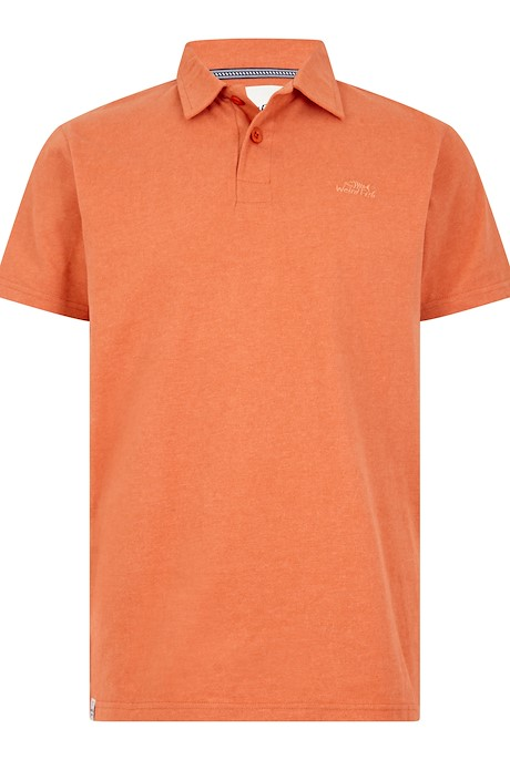 Quay Branded Polo Shirt Dark Rust Marl