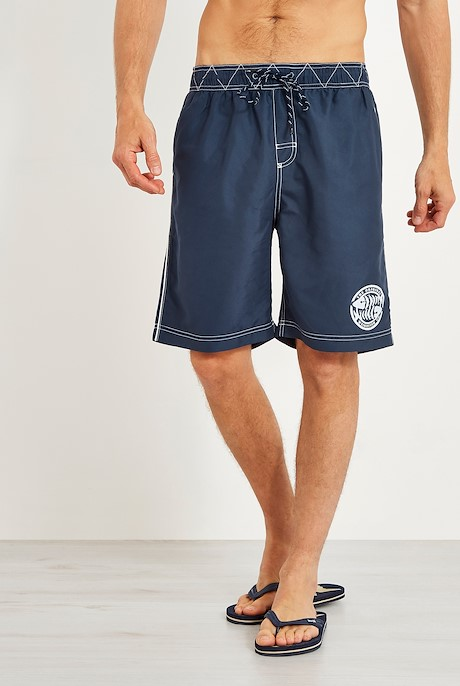 Cork Branded Board Shorts Dark Navy