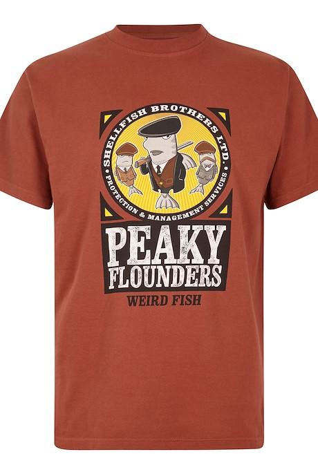 Peaky Flounders Artist T-Shirt Henna