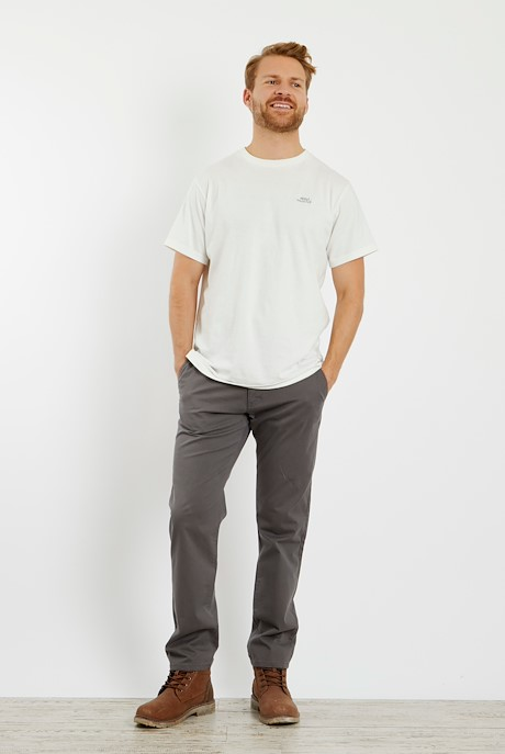 Bugle Super Soft Casual Chino Steel Grey