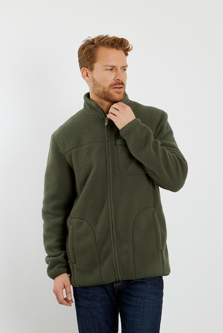 Ellroy Full Zip Fleece Jacket Dark Olive