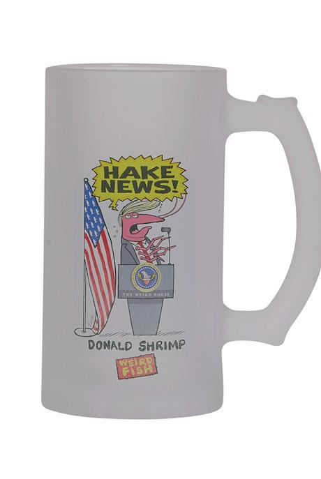 Hake News Artist Pint Glass Red