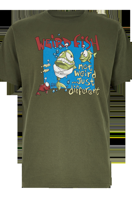 Not Weird Artist T-Shirt Dark Olive