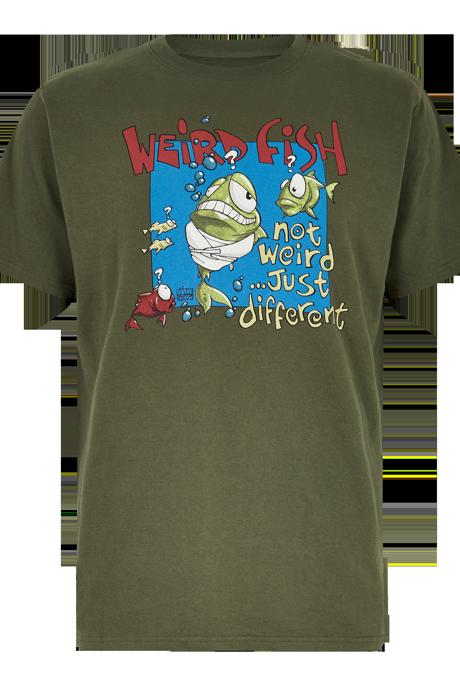 Not Weird Artist T-Shirt Dark Olive