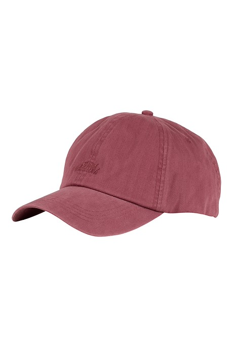 Scarfell Branded Herringbone Cap Berry