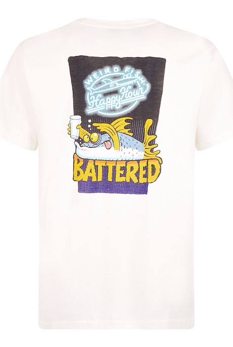 Battered Artist T-Shirt Marshmallow