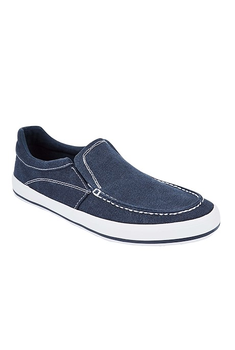 Harry Canvas Pull On Shoe Navy