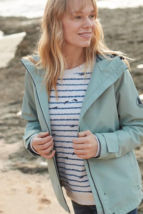 Tia Waterproof Jacket Silver Sage