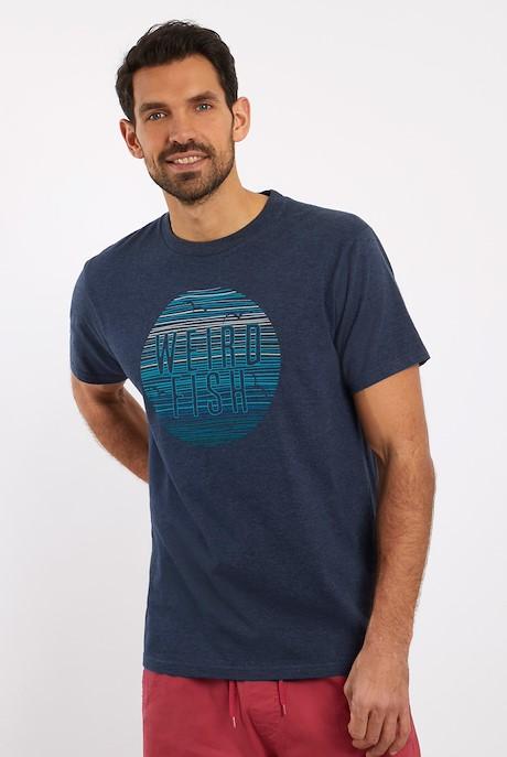 Sunset Graphic T-Shirt Navy