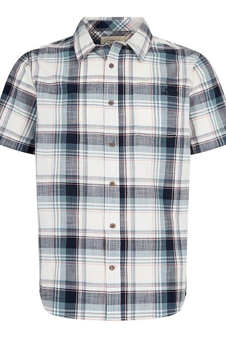 Modbury Short Sleeve Checkered Shirt Navy