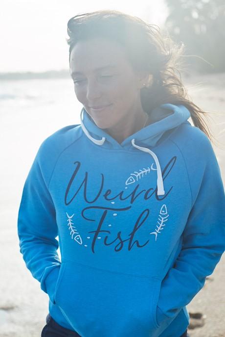 Anya Branded Popover Hooded Sweatshirt Blue Wash