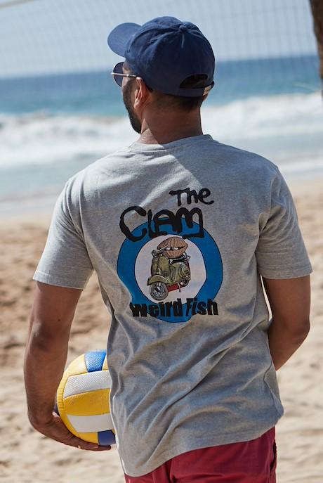 The Clam Artist T-Shirt Grey Marl