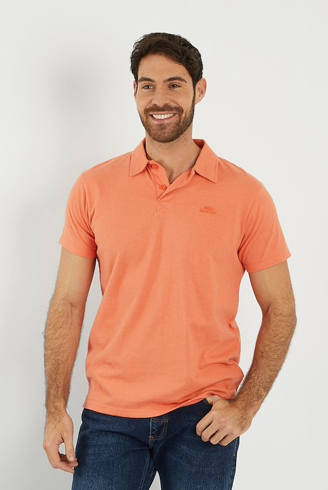 Quay Branded Polo Shirt Orangeade