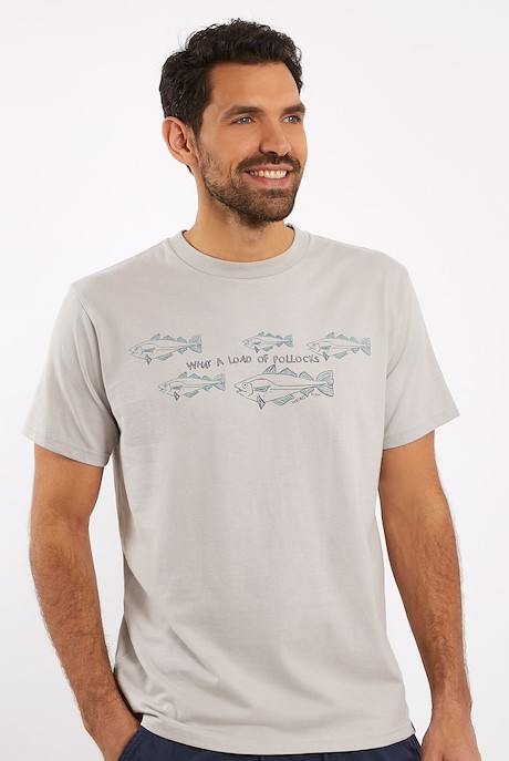 Pollock Organic Cotton Graphic T-Shirt Heron