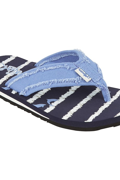 Salcombe Printed Flip Flop Dark Navy