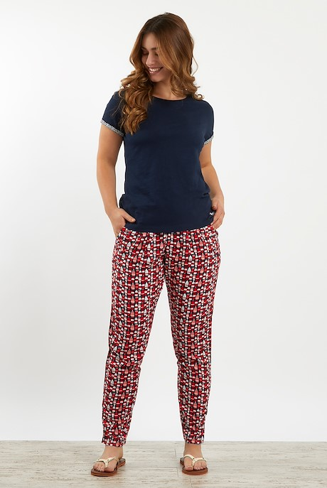 Tinto Patterned Harem Trousers Radical Red