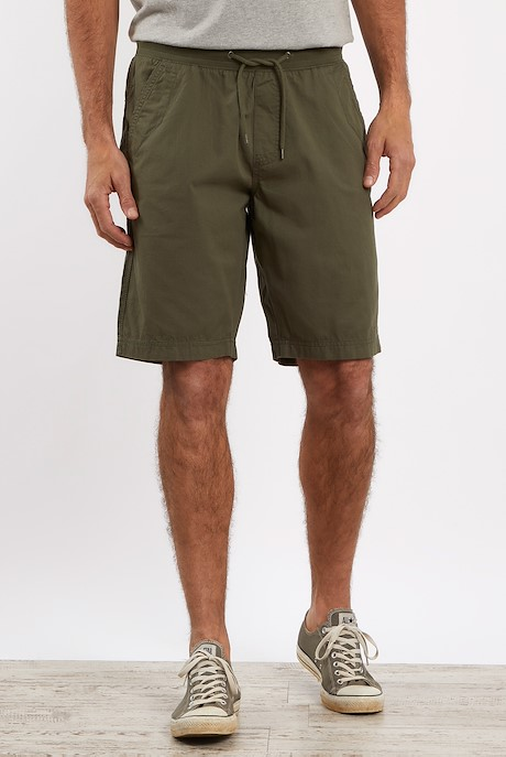 Murrisk Relaxed Casual Shorts Dark Olive