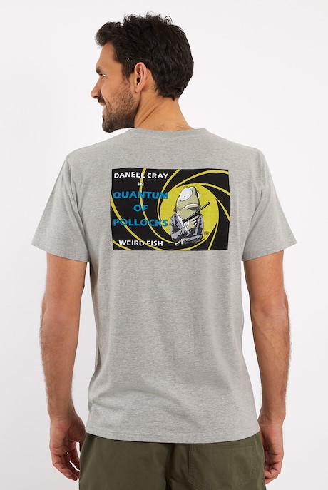 Quantum Pollocks Artist T-Shirt Grey Marl