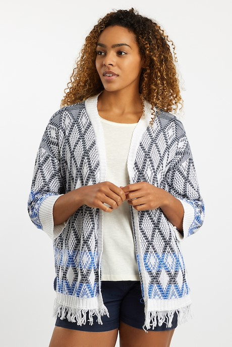 Mayella Knitted Summer Cardigan Chalk
