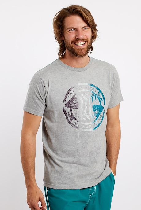 Summer Surf Graphic T-Shirt Grey Marl