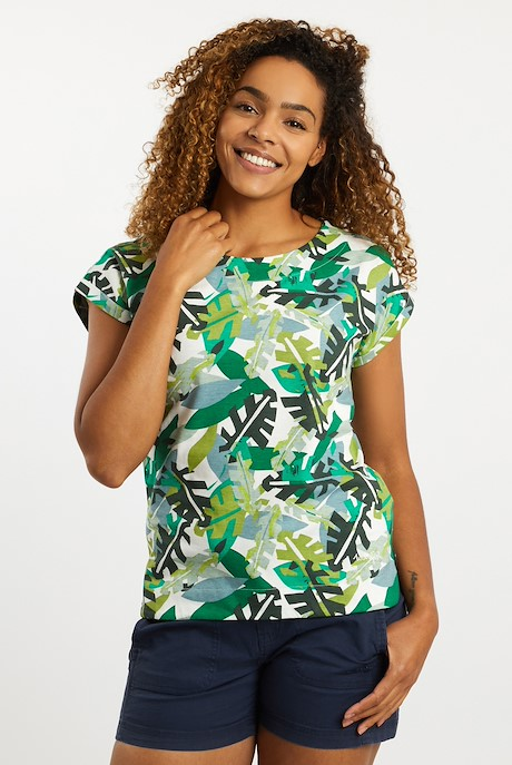 Paw Paw Patterned Jersey T-Shirt Army Green