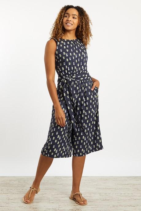Nalani Printed Jumpsuit Navy