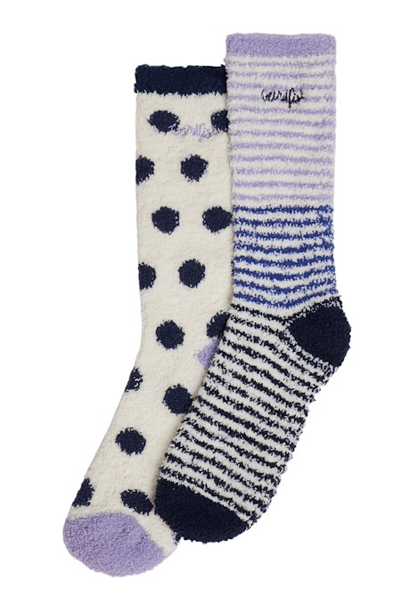 Park Fluffy Socks Vivid Blue