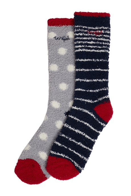 Park Fluffy Socks Navy