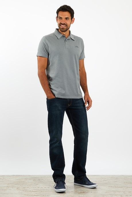 Quay Branded Polo Grey