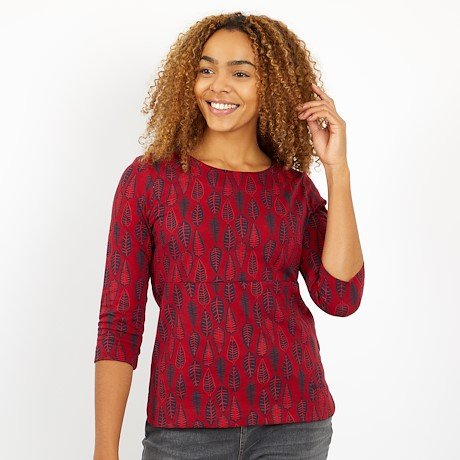 Pinto Printed Jersey T-Shirt Rich Red