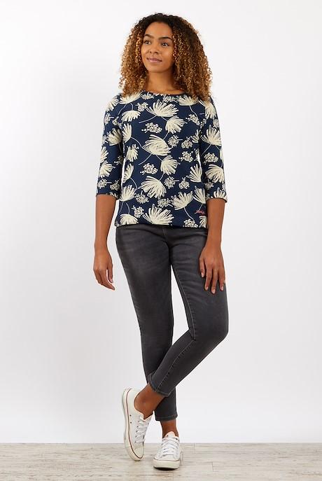 Pinto Printed Jersey T-Shirt Navy