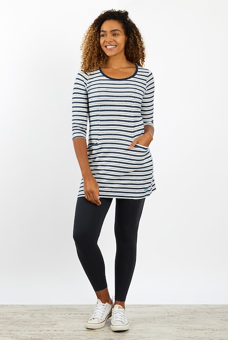 Arlo Striped Tunic Ensign Blue