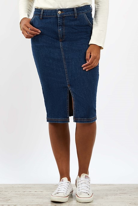 Madison Denim Midi Skirt Denim