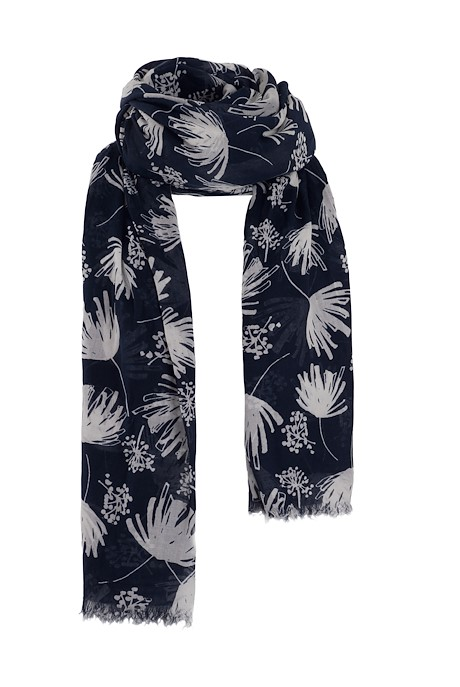 Alverton Printed Scarf Navy