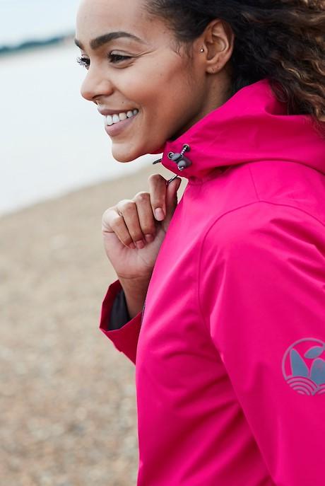 Tia Waterproof Jacket Dark Pink