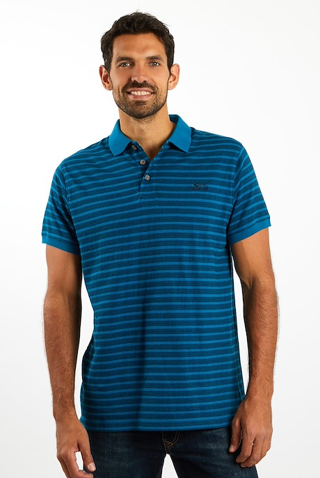 Meeth Striped Polo Storm Blue