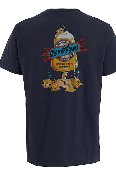 Clam Miguel Artist T-Shirt Navy