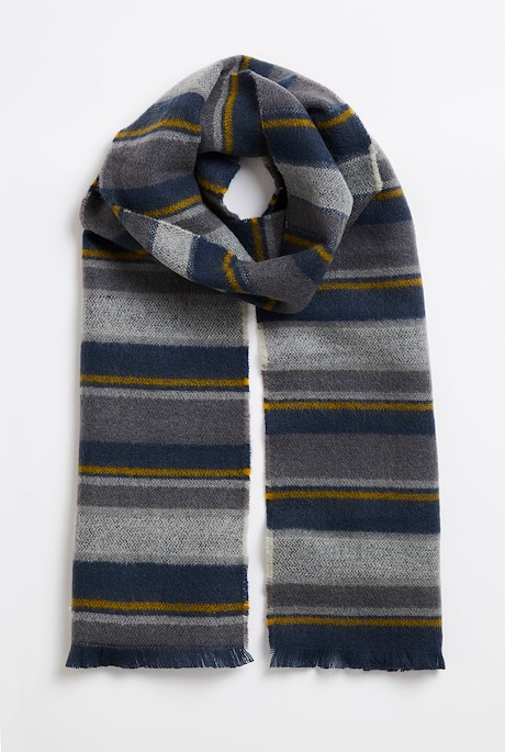 Arviat Brushed Striped Scarf Cement