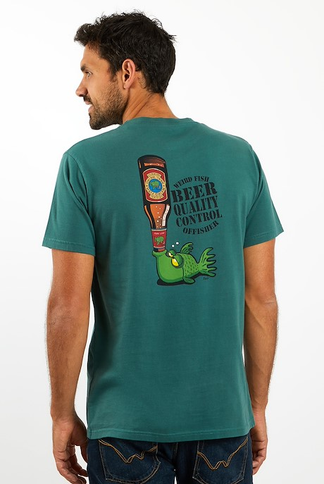 Beer Offisher Artist T-Shirt Dark Green
