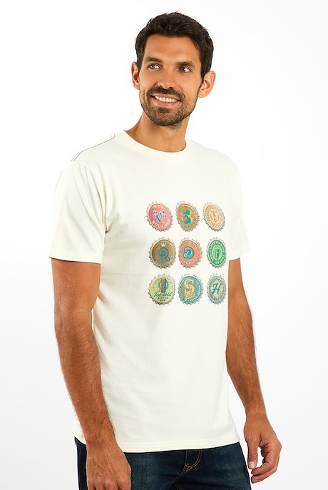 Bottlecaps T-Shirt Marshmallow