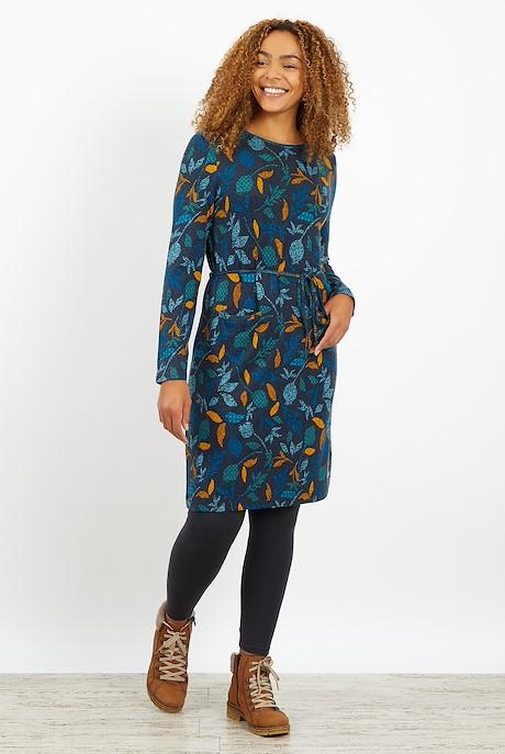 Sydney Printed Jersey Dress Ink