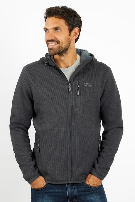 Lockie Full Zip Fleece Hoodie Cement