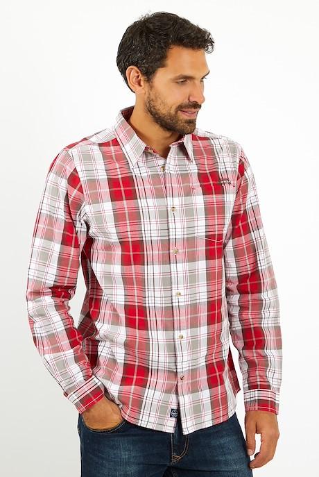 Sperrin Long Sleeve Check Shirt Chilli Pepper