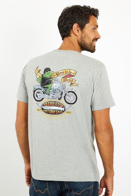 Motorpikes Artist T-Shirt Grey Marl