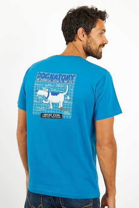 Dognatomy Battersea Artist T-Shirt Storm Blue