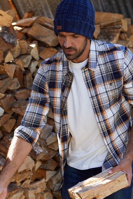 Sedona Check Shirt Saffron