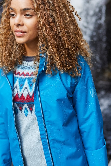 Tia Waterproof Jacket Storm Blue