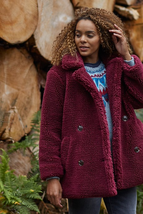 Dixie Borg Cosy Coat Antique Cherry