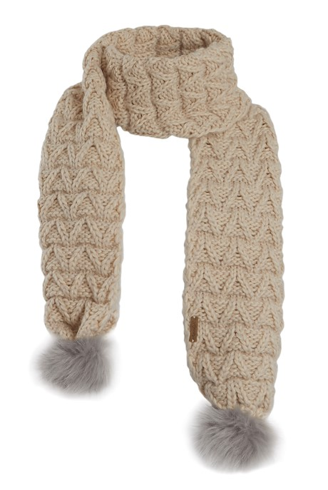 Corey Textured Knit Scarf Chalk